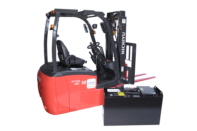 forklift and Lithium ion battery